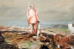 Am Ende des Erinnerns, 70x70, oil on canvas, 2017