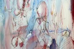 followers, 80x60, mixed media on canvas, 2019