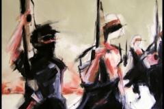 Fußvolk, 60x80, oil on canvas, 2004