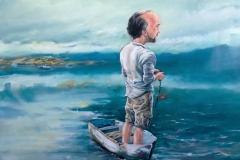 große Erwartungen, 100x100, oil on canvas, 2015