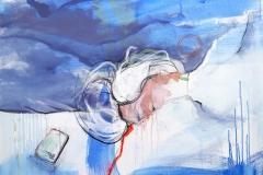 temps libre, 120x100, mixed media on canvas, 2019