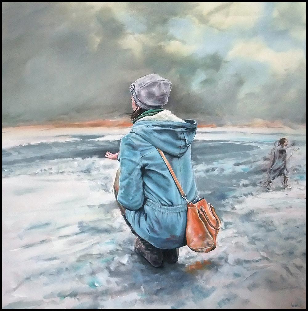 """take my ..."", oil on canvas 80 x 80 cm, 2014"
